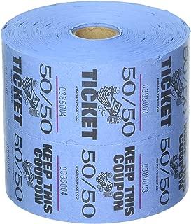 Blue 50/50 Raffle Tickets : roll of 1000