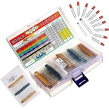 Vipe 300PCS 30 Values 1//4W 1/% Metal Film Resistors Resistance Assortment Kit Set