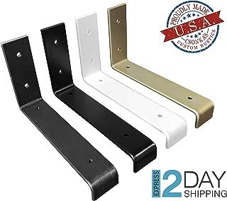 Color Lip Shelf Brackets, Black, White, Gold, Brass Powder Coat Shelve Brackets, Industrial Shelf Bracket, Modern Shelf