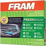 FRAM CF10370 Fresh Breeze Cabin Air Filter with Arm & Hammer Baking Soda