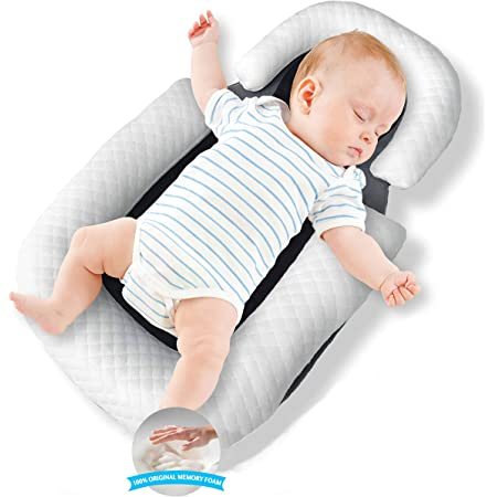 AOLVO Baby Bassinet for Bed,All in One Baby Lounger,Newborn Infant Toddler Portable Co-Sleeping Cribs /& Cradles Lounger Cushion Super Soft Breathable Sleep Nest,Cocoon Snuggle Bed