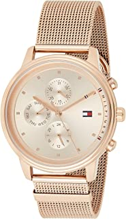 Tommy Hilfiger 1781907 Mens Quartz Watch, Analog Display and Stainless Steel Strap, Rose Gold