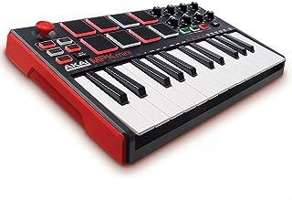 AKAI Professional MPK MINI MKII - Teclado controlador MIDI USB portátil con 25 teclas, 8 pads MPC, 8 potenciómetros, joystick, VIP 3 y paquete de software incluido - Estándar