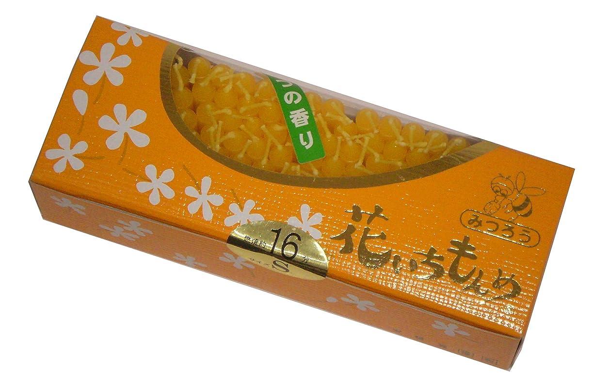 カエル錆びより佐藤油脂のローソク 花いちもんめ みつろう 約160本 16分