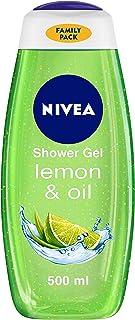 NIVEA Body Wash, Lemon & Oil Shower Gel, Moisturises Better Than Soap, Pampering Care with Refreshing Scent of Lemon, 500 ml