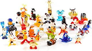 Handblown Glass Animal Miniature Figurines Job lot of 50 Art Decoration by ART GLASS