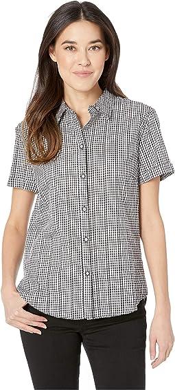 Novelty Gingham Short Sleeve Camp Shirt