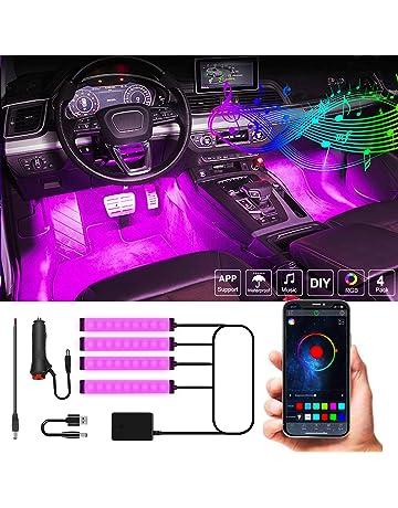 Generic Luces LED Interiores del Coche 2 en 1 de 4M Tira de luz de la atm/ósfera Interior del Coche aplicaci/ón RGB//ne/ón de Fibra /óptica de Control Remoto con Cable USB