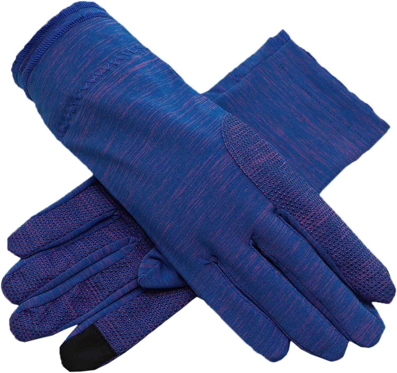 Biruil Men Fingerless Gloves Non Skid Cotton Sun UV Protection Breathable Driving Sport Mittens