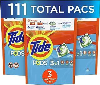 Tide Pods Pods Liquid Laundry Detergent Pacs, Clean Breeze, 3 Pack 37 count