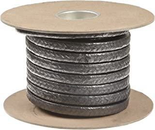 Palmetto 1030AF Series Graphite Impregnated Kynol/Aramid Compression Packing Seal, Dull Gray, 3/8