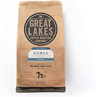 Small Batch Fresh Roasted Farmer Direct Whole Coffee Beans H.O.M.E.S. Blend by The Great Lakes Coffee Roasting Company 12 oz