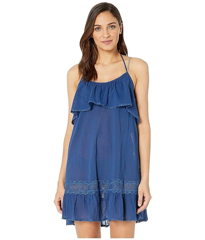 Kate Spade New York Grove Beach Ruffle Cover-Up Dress (Capri Blue) Women