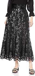 [リリーブラウン] 合皮レザー刺繍スカート LWFS214068 レディース