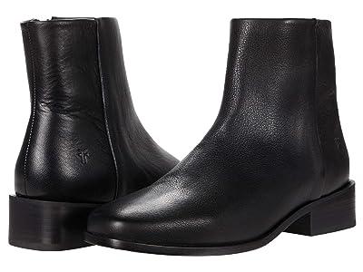 Frye River Inside Zip Bootie (Black Soft Vintage Leather) Women