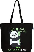 EcoRight 100% Canvas Cotton Tote Bag, Bamboozled Panda (Black) (Black) - 0202H04