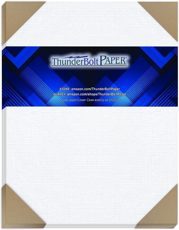 100 Bright White Linen 80# Cover Paper 8