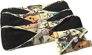 Compresas reutilizables   4 salvaslip tela muy absorbentes   toallas femeninas de tela menstruación (Beige)