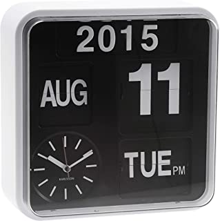 Karlsson Mini Flip Black Dial Casing Wall Clock White