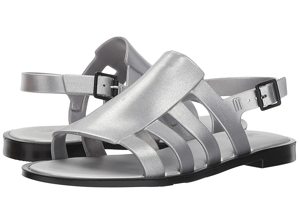 Melissa Shoes Boemia III (Silver Metal/Black) Women