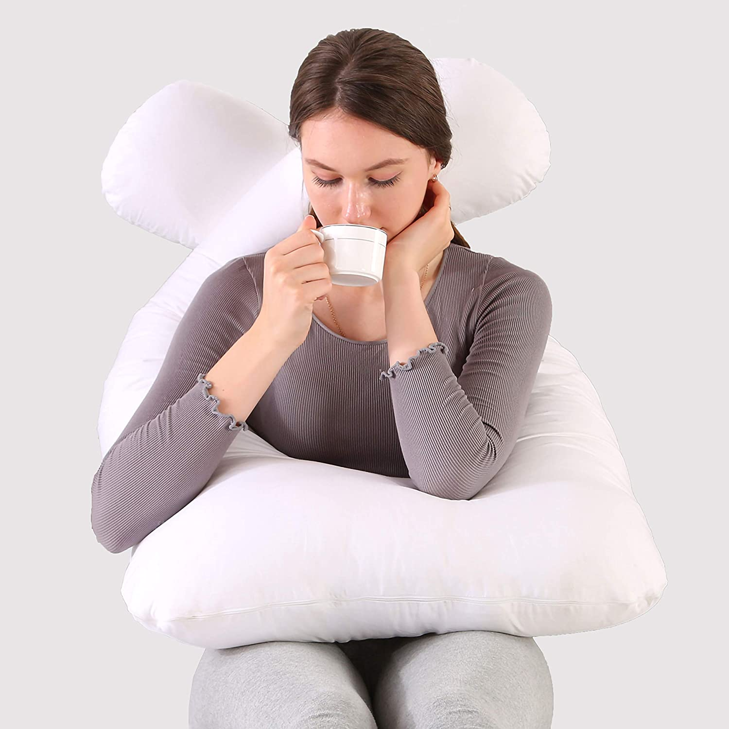 Pregnant Women's Pillows 55-inch White Chicago Mall U-Shaped Credence Bodied