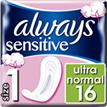 Always Sensitive Normal Ultra Sanitary Towels, 16 Pads