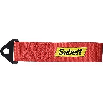 Rimorchio di traino per auto cintura di trazione personalit/à modificata Rosso rimorchio per paraurti anteriore con corda decorativa con gancio