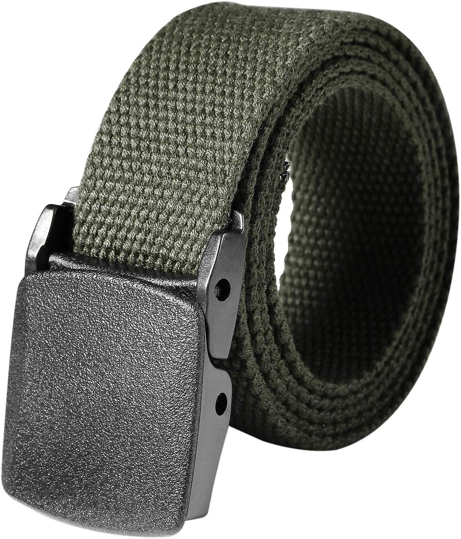 Muilek Outdoor Web Belt,Military Tactical Adjustable Survival Solid Nylon Outdoor Waist Belt Belts