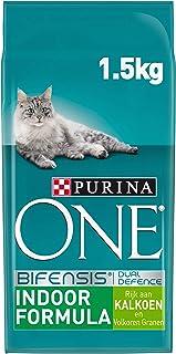 Purina ONE Indoor Kattenvoer, Adult Kattenbrokken - Binnenkatten, met Kalkoen en Volkoren Granen, 1,5kg - Doos van 3 (4,5kg)