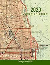 2020 Weekly Planner: Chicago Loop (1953): Vintage Topo Map Cover