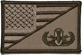 Explosive Ordnance Disposal EOD USA Flag 2.25 x 3.5 inch Morale Patch - Coyote Brown