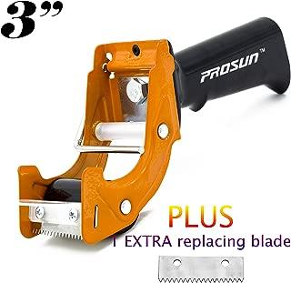 PROSUN Fast Reload 3 Inch Wide Large Tape Gun Dispenser Packing Packaging Sealing Cutter, Orange