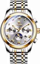 Men Automatic Watch TEVISE 44mm Stainless Steel Multi-Function Luminous Waterproof Mechanical Wrist Watches