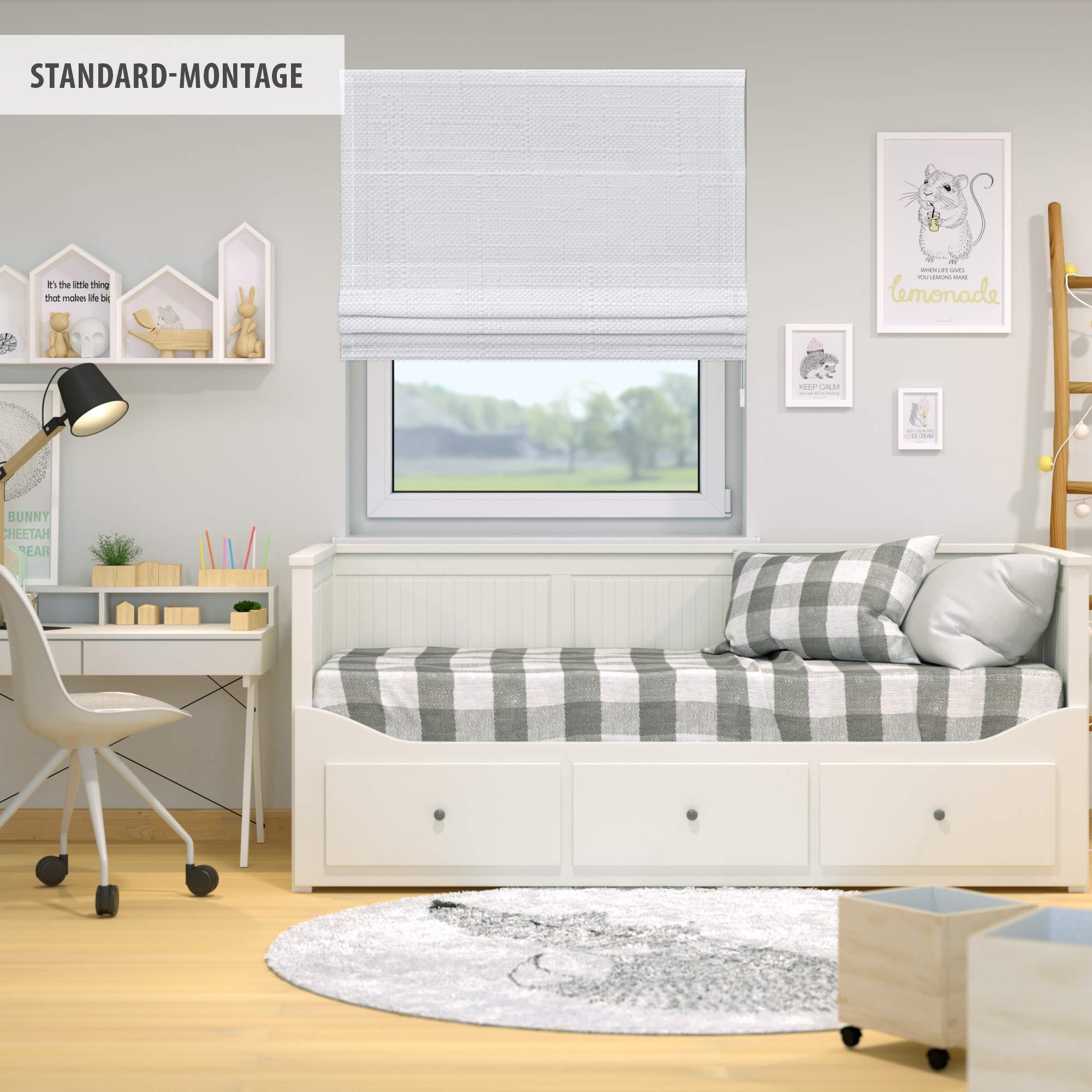 Victoria M. Ivora Estor Plegable, Cortina Plegable paqueto, 17 x 17 cm,  Blanco Estructurado
