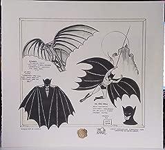 BATMAN DAVINCI SIGNED BOB KANE DUO TONE CONCEPT ART W COA VINTAGE WARNER STORES
