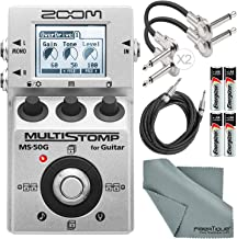 Zoom MS-50G MultiStomp Guitar Pedal with FiberTique Cleaning cloth and Exclusive Accessory Bundle
