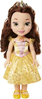 """Disney Princess Belle Doll Beauty and the Beast Sing & Shimmer  Toddler Doll, Princess Belle Sings """"Something There"""" when you press her Jeweled Necklace [Amazon Exclusive]"""