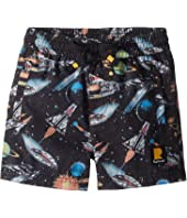 Rock Your Baby - Space Invaders Boardshorts (Toddler/Little Kids/Big Kids)