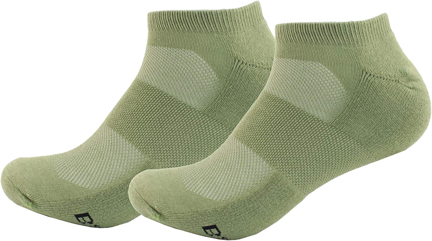 Women's Rayon from Bamboo Fiber Ultra Breathable Superior Wicking Athletic Ankle Sports Socks - 2 Pair Value Packs