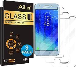 Ailun Screen Protector for Galaxy J3 2018 3Pack Tempered Glass for Samsung  Galaxy J3 Star 2018 SM J337 Amp Prime 3 2018 Galaxy J3 V 2018 Galaxy J3
