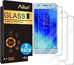 Ailun Screen Protector for Galaxy J3 2018 3Pack Tempered Glass for Samsung Galaxy J3 Star 2018 SM J337 Amp Prime 3 2018 Galaxy J3 V 2018 Galaxy J3 Aura 2018 Galaxy Sol 3 2018 Case Friendly