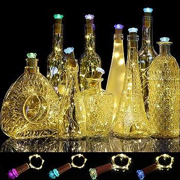 Murelan Lights for Bottles, Wine Bottle Lights 12 Pack with Cork For Bedroom, DIY, Party, Wedding Decor Indoor Outdoor