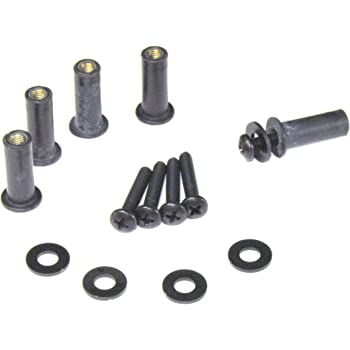 1//4 longer than OEM 1//4 longer than OEM WellNuts Well Nuts 101 Not Metric American Made Premium Upgraded Well Nut /& Screw Kit for Harley Road Glide Windshield SAE