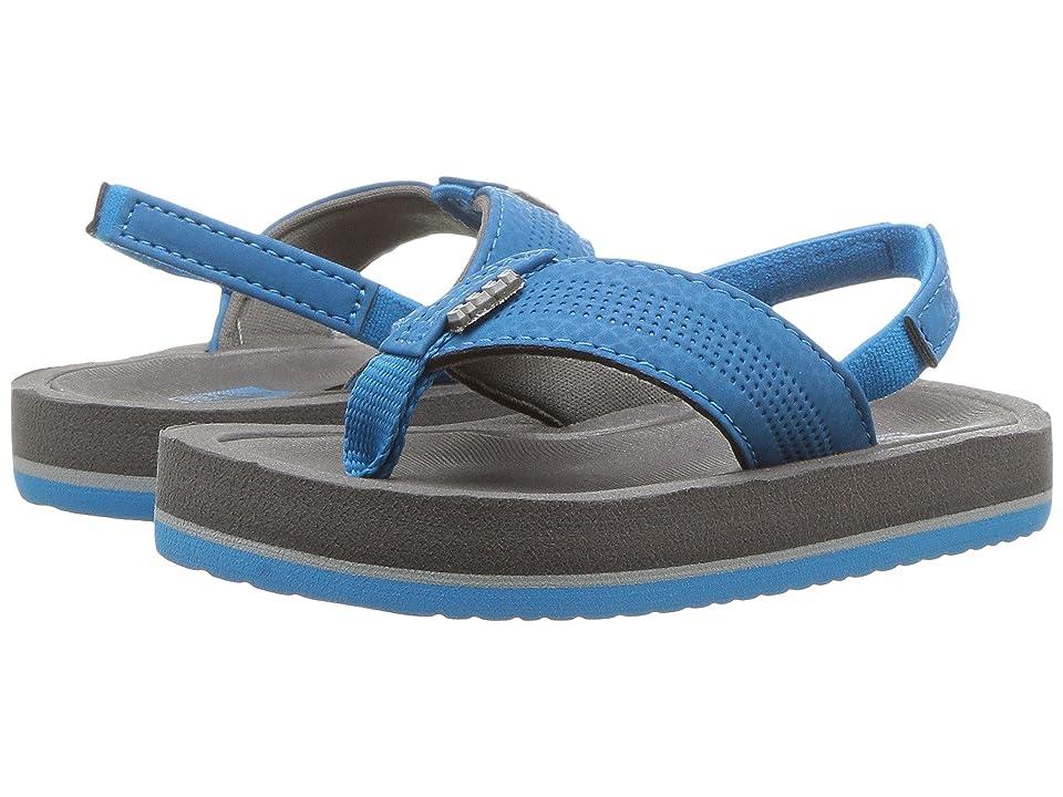 Reef Kids Grom Splash (Infant/Toddler/Little Kid/Big Kid) (Grey/Blue) Boys Shoes