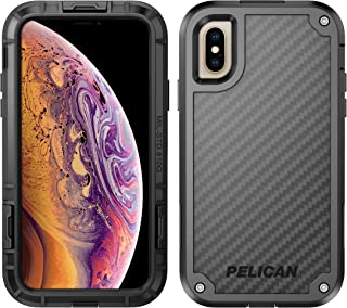 Pelican Shield iPhone Xs Case with Kevlar Brand fibers (Also fits iPhone X) - Black