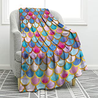 Jekeno Blanket Mermaid Scale Soft Throw Blanket for Bed Couch Sofa Lightweight Travelling Camping 50