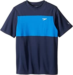 Speedo Kids Blocked Short Sleeve Swim Tee (Little Kids/Big Kids)