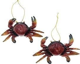 Value Arts Red Crab Christmas Ornaments Bundle - Set of 2 Blue Crab Hanging Ornaments