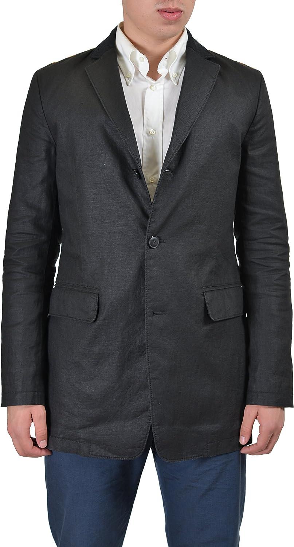 Hugo Boss Orange Baresto-W Men's Black Linen Sport Coat Blazer US 38R IT 48