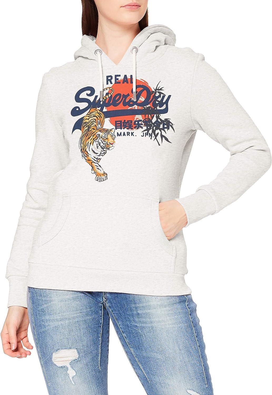 Superdry Vintage Logo Rising Sun Brushed Hoodie
